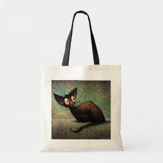 Cute Black Oriental Cat Tote Bag