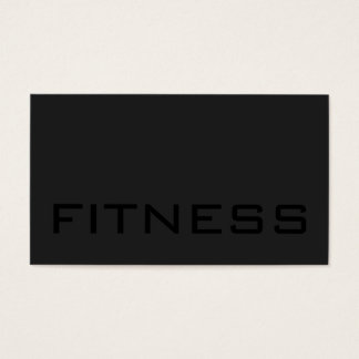 Cute Black Out Gray Fitness Trainer Business Card