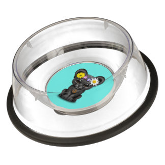 Cute Black Panther Cub Hippie Bowl
