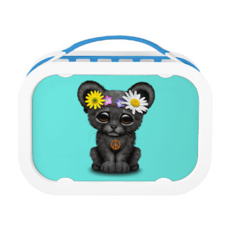 Cute Black Panther Cub Hippie Lunch Box