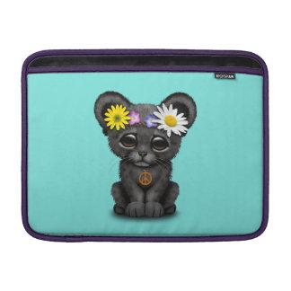 Cute Black Panther Cub Hippie MacBook Sleeve