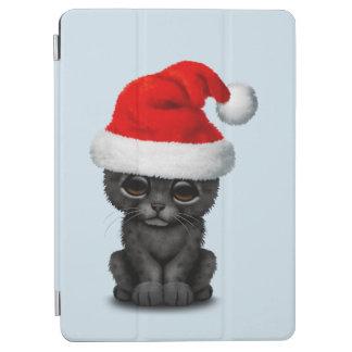 Cute Black Panther Cub Wearing a Santa Hat iPad Air Cover