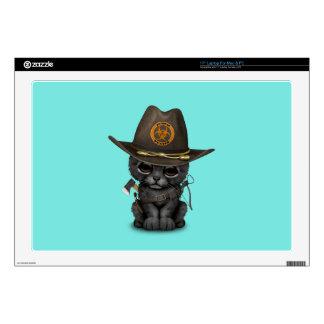 Cute Black Panther Cub Zombie Hunter Laptop Skin