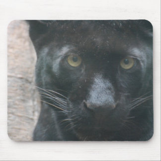 Cute Black Panther Mouse Pad