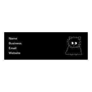 Cute Black Persian Cat. Mini Business Card