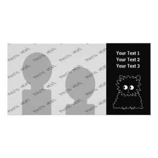 Cute Black Persian Cat. Custom Photo Card
