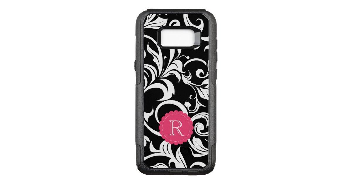 cute black pink floral wallpaper swirl monogram otterbox samsung galaxy case r9e17e802807c46e8b7192dc8b29622fb ko0w5 630