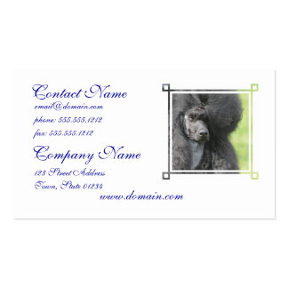 Cute Black Poodle Double-Sided Standard Business Cards (Pack Of 100)