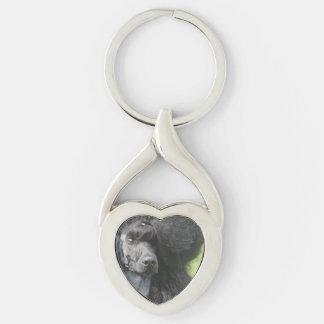 Cute Black Poodle Key Chains