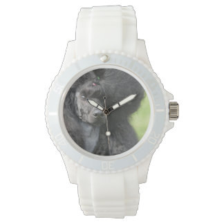 Cute Black Poodle Watches