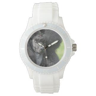 Cute Black Poodle Wrist Watch