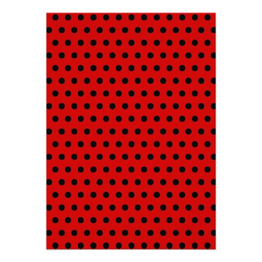 Cute Black & Red Dots Ladybugs Baby Shower Custom Invitation (back side)