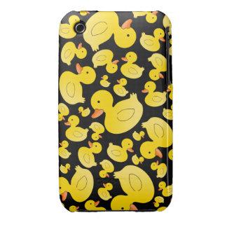 Cute black rubber ducks iPhone 3 cases