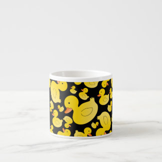 Cute black rubber ducks espresso cup