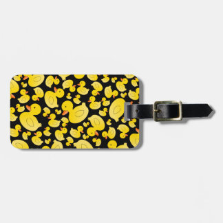 Cute black rubber ducks tags for bags