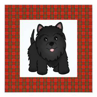 Cute Black Scottish Terrier Puppy Dog Party Invite
