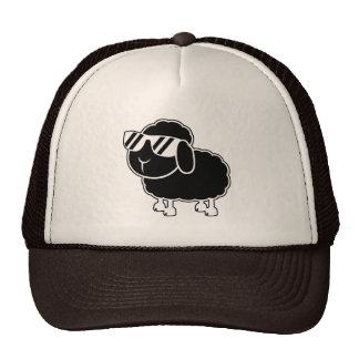 Cute Black Sheep Cartoon Trucker Hat