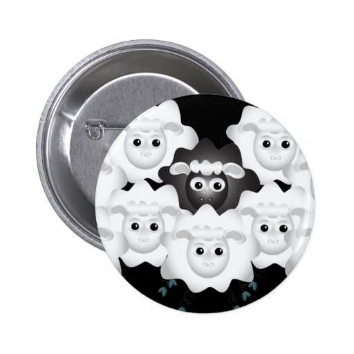 Cute Black Sheep of the Family Button