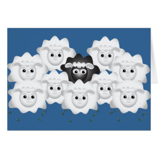 Cute Black Sheep of the Family Cards