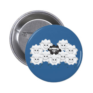 Cute Black Sheep of the Family Pinback Button