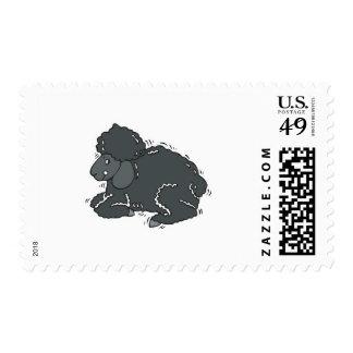 cute black sleep postage stamps