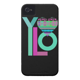 Cute Black Tribal YOLO 4 iPhone 4/4S Case