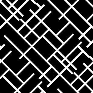 Cute Black White Abstract Design Ceramic Tile
