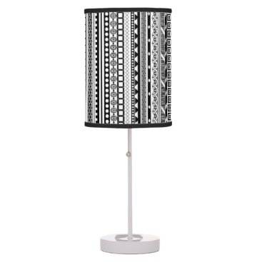 Aztec Themed Cute black white aztec patterns design table lamp