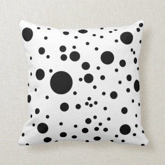 Cute Black & White Dalmatian Spots Pillows