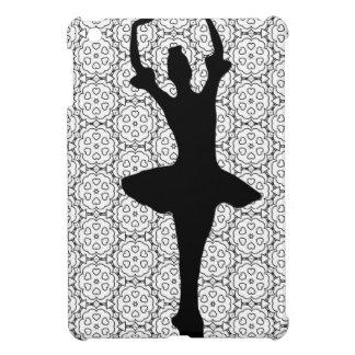 Cute Black & White Dancing Ballerina iPad Mini Cover