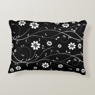 Cute Black & White Delicate Floral Pattern