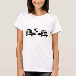 Cute black white loving turtles T-Shirt