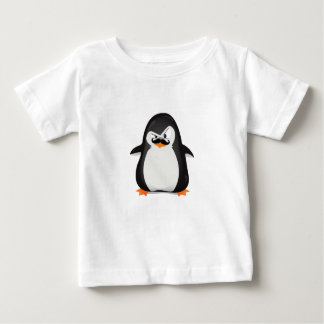 Cute Black  White Penguin And  Funny Mustache Infant T-shirt