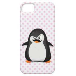 Case-Mate Vibe iPhone 5 Case with Cute Penguin with Mustache design