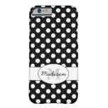Cute Black White polka dots Monogram iPhone 6 iPhone 6 Case