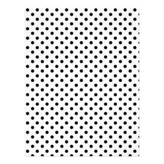 Cute Black White Polka Dots Pattern Flyer
