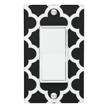 CozyLivin Cute Black White Retro Chic Trellis Pattern Light Switch Cover