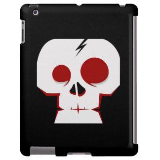 Cute black white skull monster cartoon design