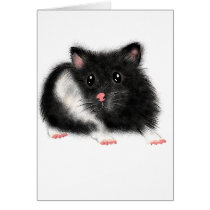 Cute Black white Syrian hamster gifts accessories