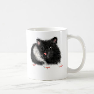 Cute Black white Syrian hamster gifts accessories Coffee Mug
