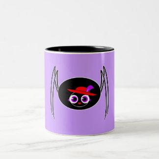Cute Black Widow Two-Tone Coffee Mug