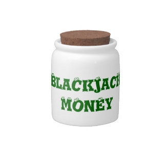 Cute Blackjack Players Money Spare Change Bank Candy Dishes
