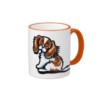 Cute Blenheim CKCS Ringer Mug