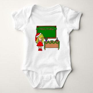 Cute Blond Christmas teacher T-shirt