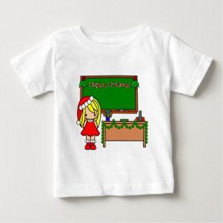 Cute Blond Christmas teacher Tee Shirt