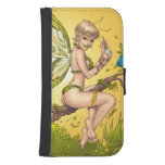 Cute Blond Fairy Drinking In The Sunshine Art Galaxy S4 Wallet Cases