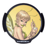 Cute Blond Fairy Drinking In The Sunshine Art LED Window Decal