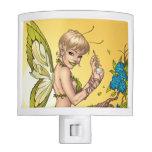 Cute Blond Fairy Drinking In The Sunshine Art Night Light