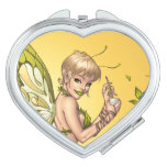 Cute Blond Fairy Drinking In The Sunshine Art Mirror For Makeup