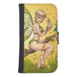 Cute Blond Fairy Drinking In The Sunshine Art Samsung S4 Wallet Case